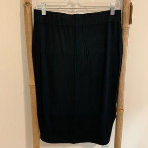 Banana Republic black jersey skirt